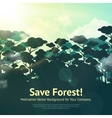 Save Forest vector image