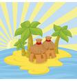 small island vector image