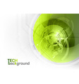 Tech background green corner round vector image