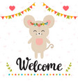 welcome inspirational quote hand drawn vector image