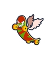 Winged Skatebord Character vector image