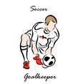 soccer goalkeeper vector image