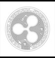 crypto currency ripple black and white symbol