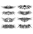 set of tribal tattoo including vector image vector image