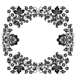 black and white vintage frame vector image vector image