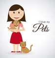 pets design vector image