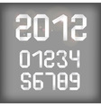 2012 and other numbers vector image vector image