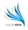 Glossy wave isolated on white background vector image vector image