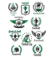 American football retro symbols for sport design vector image vector image