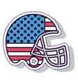 american football helmet sport isolated icon vector image