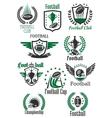 American football retro symbols for sport design vector image