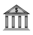 Bank sign icon vector image