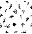 Black and White Florals Seamless Pattern vector image