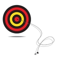 bulls-eye vector image