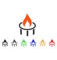 burner nozzle flame icon vector image