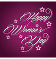 Creative typographic design for Happy Womens Day vector image