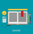 education flat design concept for design vector image