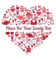 love heart shape vector image