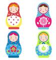 matryoshka set traditional russian nesting dolls vector image