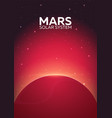 poster planet mars and solar system space vector image