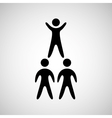 silhouete men pyramid persons design vector image