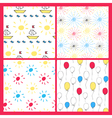 seamless baby patterns vector image vector image