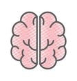 pink creative brain and mental healthy vector image