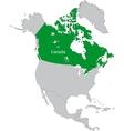 Location of Canada vector image