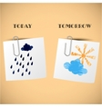 Home weather forecast for stickers vector image