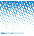Abstract Blue Halftone Background vector image