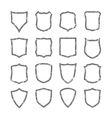 Big set of blank grunge classic shields vector image