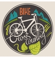 bike cross cantry vector image
