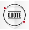 Black and red round quote frame at white folded vector image