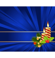 blue background with christmas decorations vector image vector image