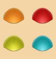 modern shells set on orange vector image