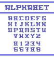 Blue english alphabet vector image