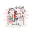 Woman with laptop vector image vector image