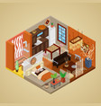 african style interior design isometric vector image