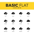 Basic set of cloud icons vector image