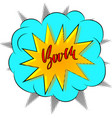 boom comic cartoon design handdrawn modern vector image