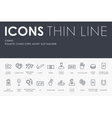 casino Thin Line Icons vector image