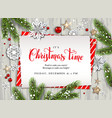 holiday nature card invitation vector image