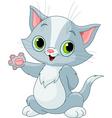 kitten showing vector image