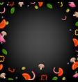 pizza border vector image