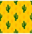 seamless pattern with succulent cactus vector image