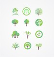 Tree bundle logo vector image