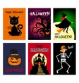 Retro autumn halloween posters vector image