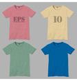 T shirt design templates vector image
