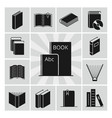 black books silhouettes icons collection vector image
