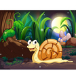 A snail in the forest vector image vector image